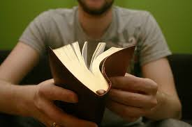 dude with book