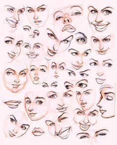 female face sketches